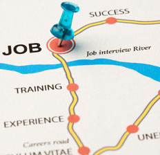 Career path presented as a road map