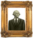 Gold framed George Washington Image from $1
